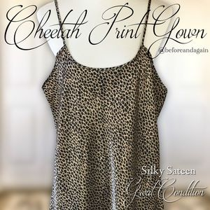 Other - Silky Cheetah Print Slip/Gown